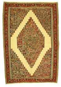 Kelim Senneh Teppich  198X292 Echter Orientalischer Handgewebter (Wolle, Persien/Iran)