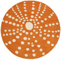 Sjöborre handtufted - Orange